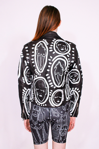 'All Over You' Hand Painted Leather Jacket - Patrick Church