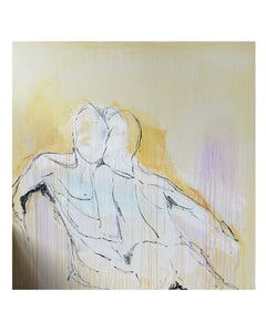 'If I Held You Any Closer' On Canvas 60 x 60 - Patrick Church