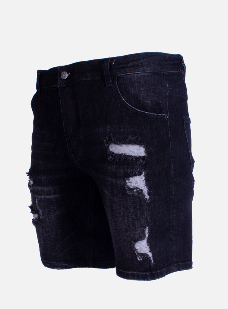 Denim short Dwayne Damaged Black