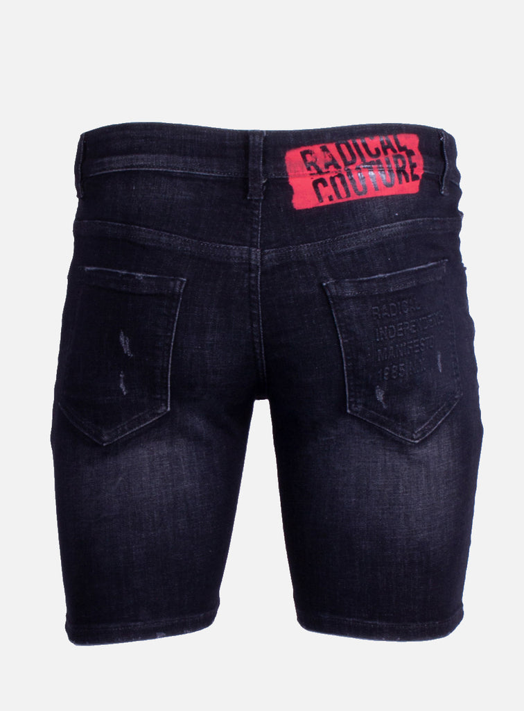 Denim Short Dwayne Washed Black