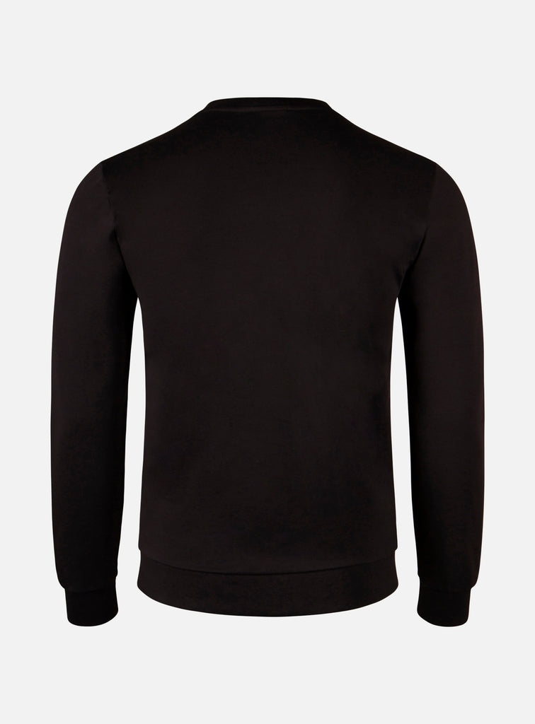LUIGI CREWNECK SWEATER RADICAL BLACK