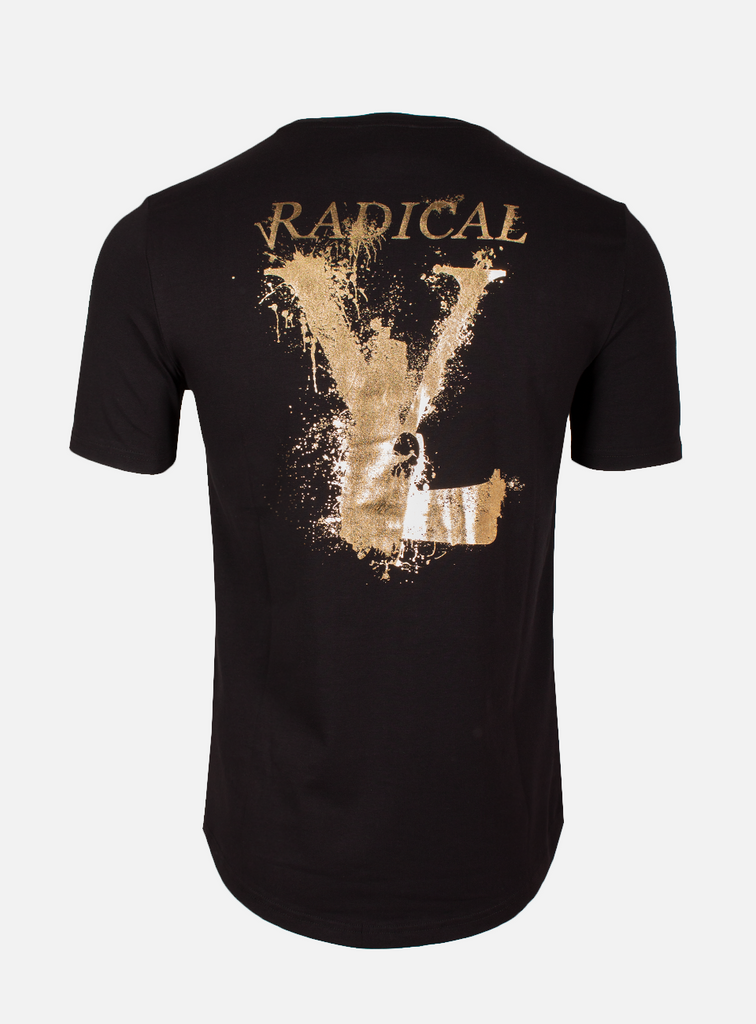 LUCIO T-SHIRT MELTING GUN BLACK/GOLD