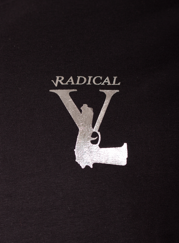 T-SHIRT LUCIO MELTING GUN BLACK/SILVER