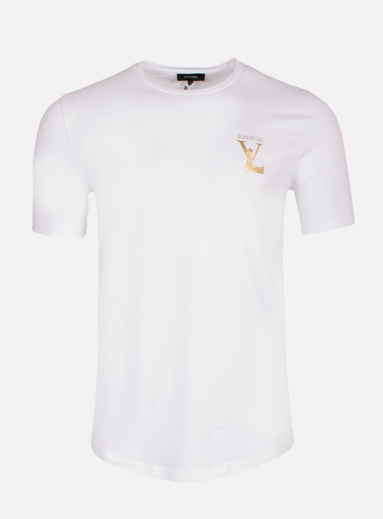 T-SHIRT MELTING GUN WHITE/GOLD