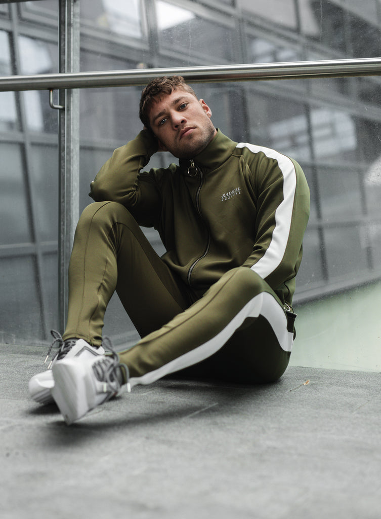 TRACKPANTS COUTURE ARMY/WHITE