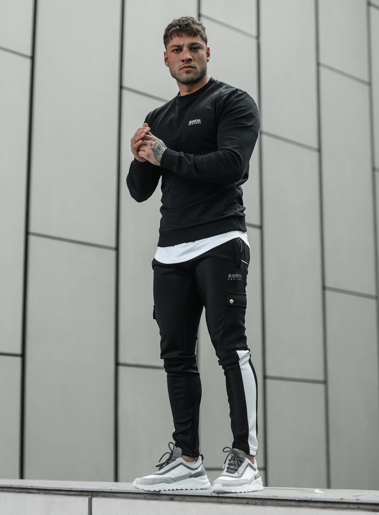 TRACKPANTS COUTURE BLACK/WHITE