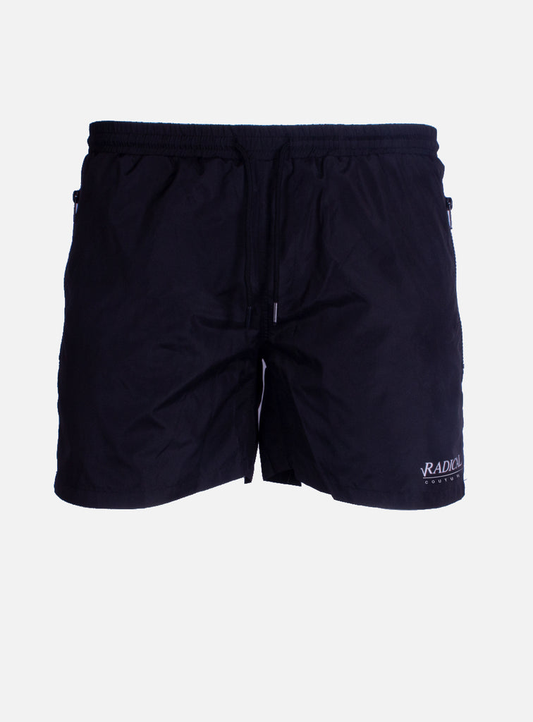 SWIM SHORT STRIPE BLACK/WHITE