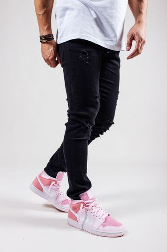 JEANS DWAYNE DAMAGED BLANCO BLACK