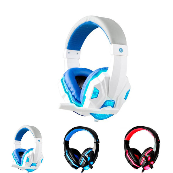 Gaming Headset with Mic LED Light for PC Laptop - Daily Tech Gadgets