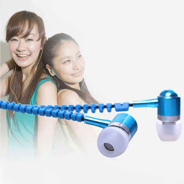 3.5mm Zipper Style Earphones With Mic - Daily Tech Gadgets