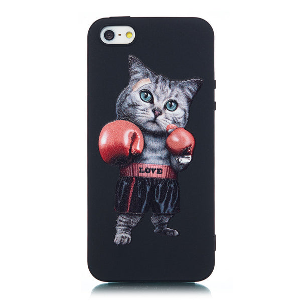 IPhone 5S Case With Boxing Cat Cover - Daily Tech Gadgets