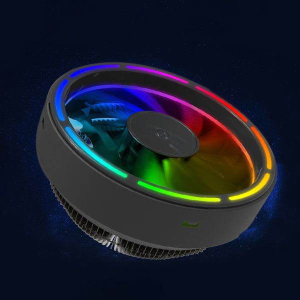 Colorful RGB Changing LED Silent 3 Pin Computer CPU Cooling Fan - Daily Tech Gadgets