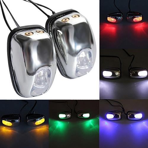1 Pair Auto LED Light Windshield Windscreen Jet Spray Nozzle Wiper Washer Lamp - Daily Tech Gadgets