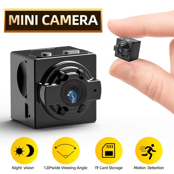Mini Camera HD 720P, IR Night Vision, Motion Detection