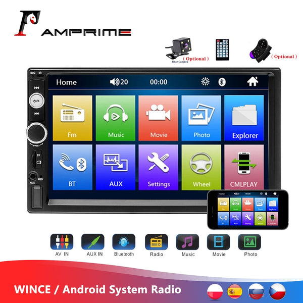 "AMPrime 7"" Touch Screen Video MP5 Player With Auto Radio, Backup Camera & More"