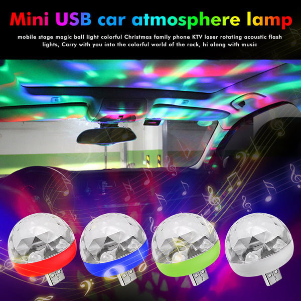 Mini Portable USB Led Disco Stage Light For Car & Phones