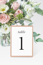Abigail Table Number