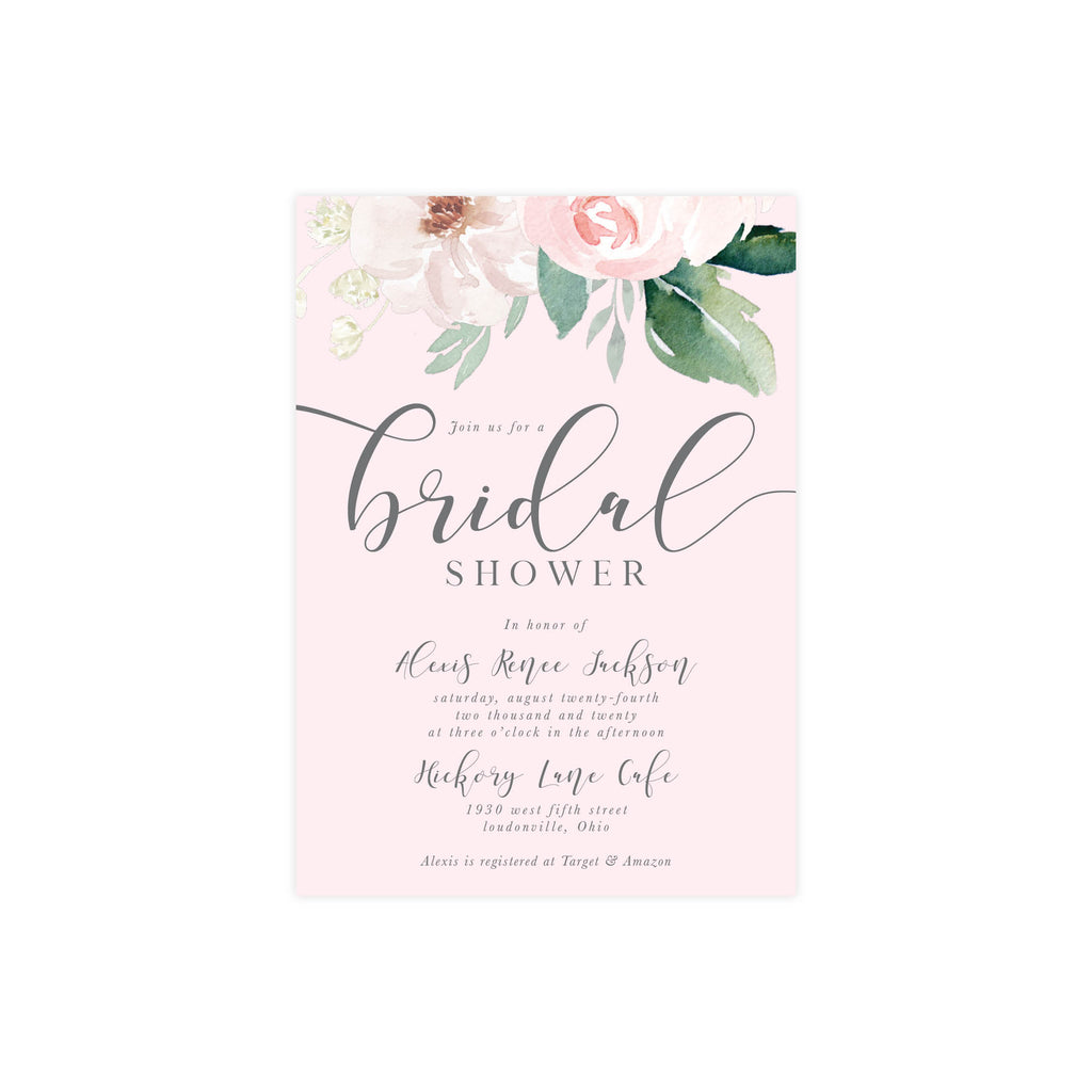 Blush Bridal Shower Invite