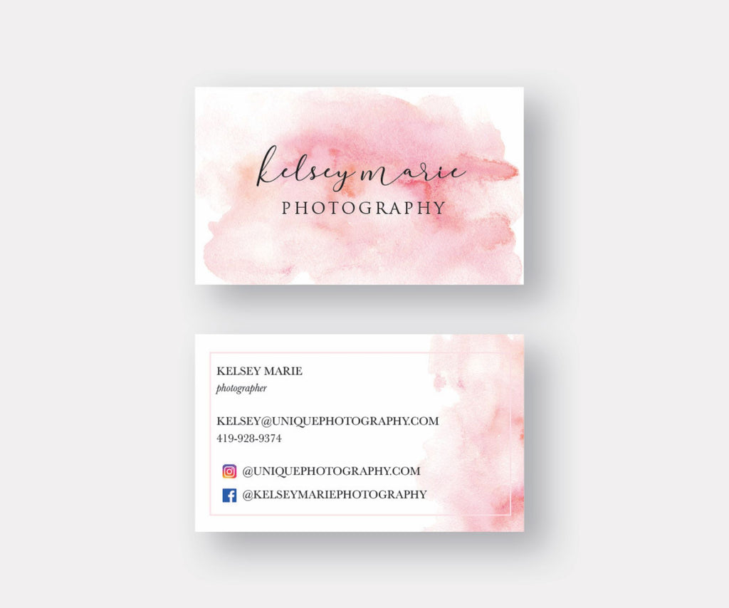 Watercolor Splash Business Cards