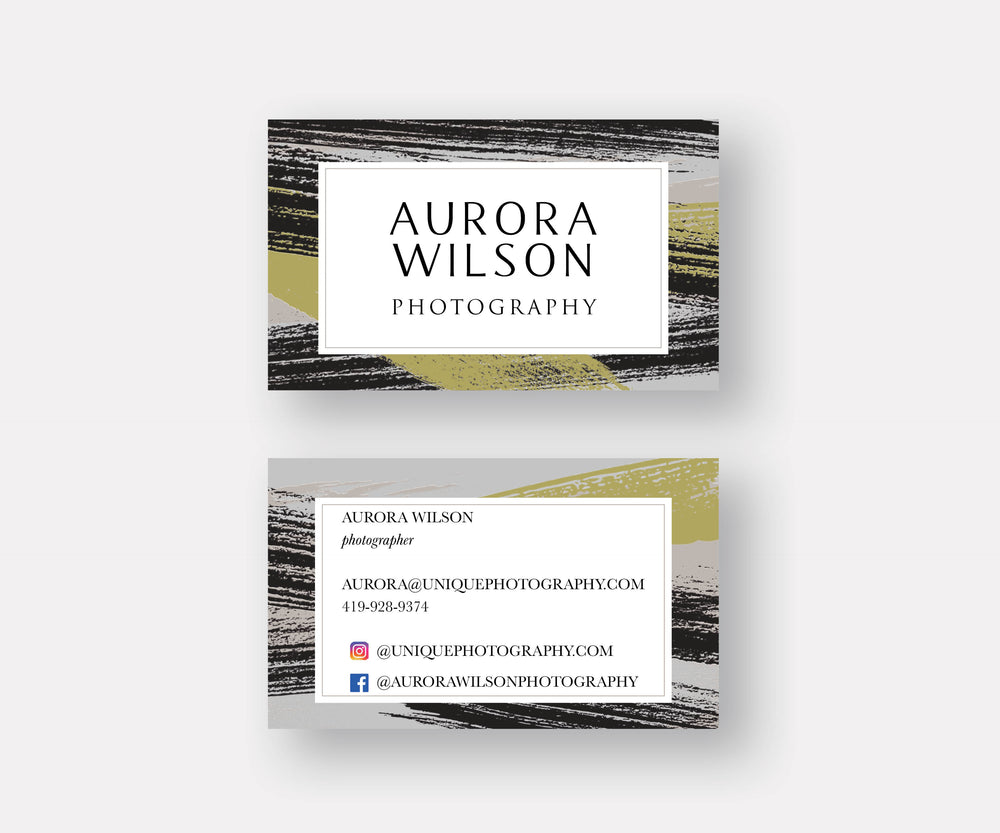 Cool Strokes Business Cards