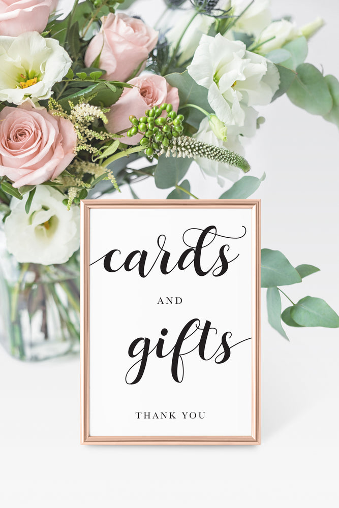 Printable Cards & Gifts Sign