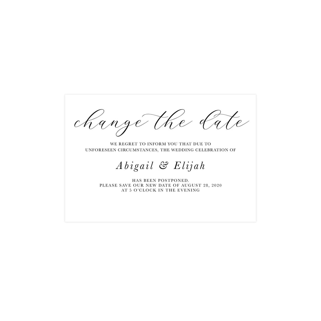 Change the Date Wedding Postcard