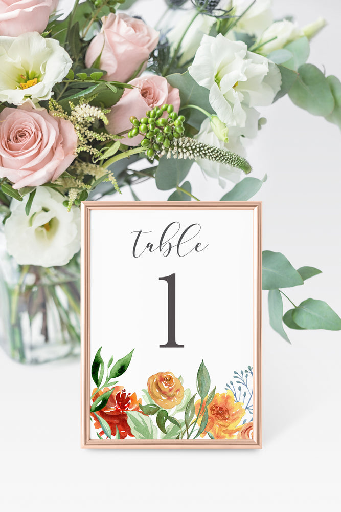 Cora Table Number