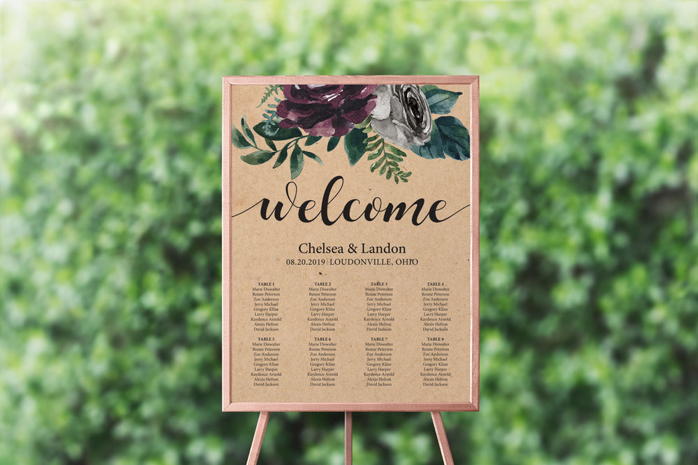 Rustic Plum Seating Chart
