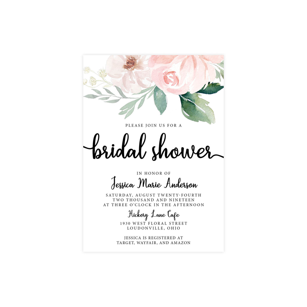 Ethereal Blush Bridal Shower Invite