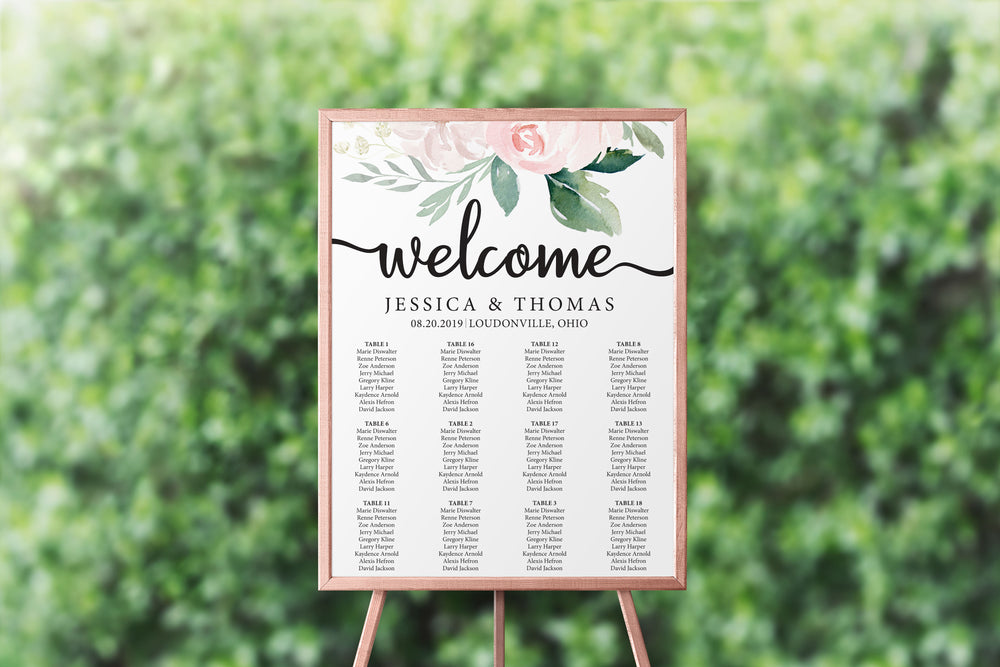 Ethereal Blush Seating Chart