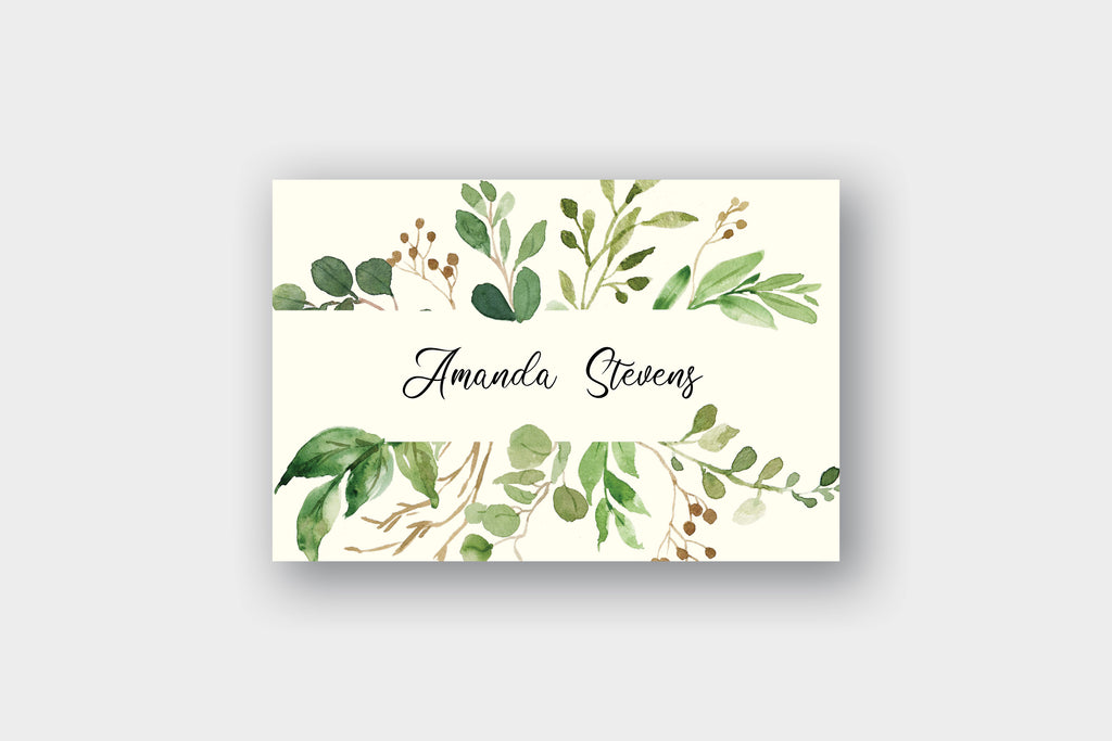 Spring Greenery Note Cards