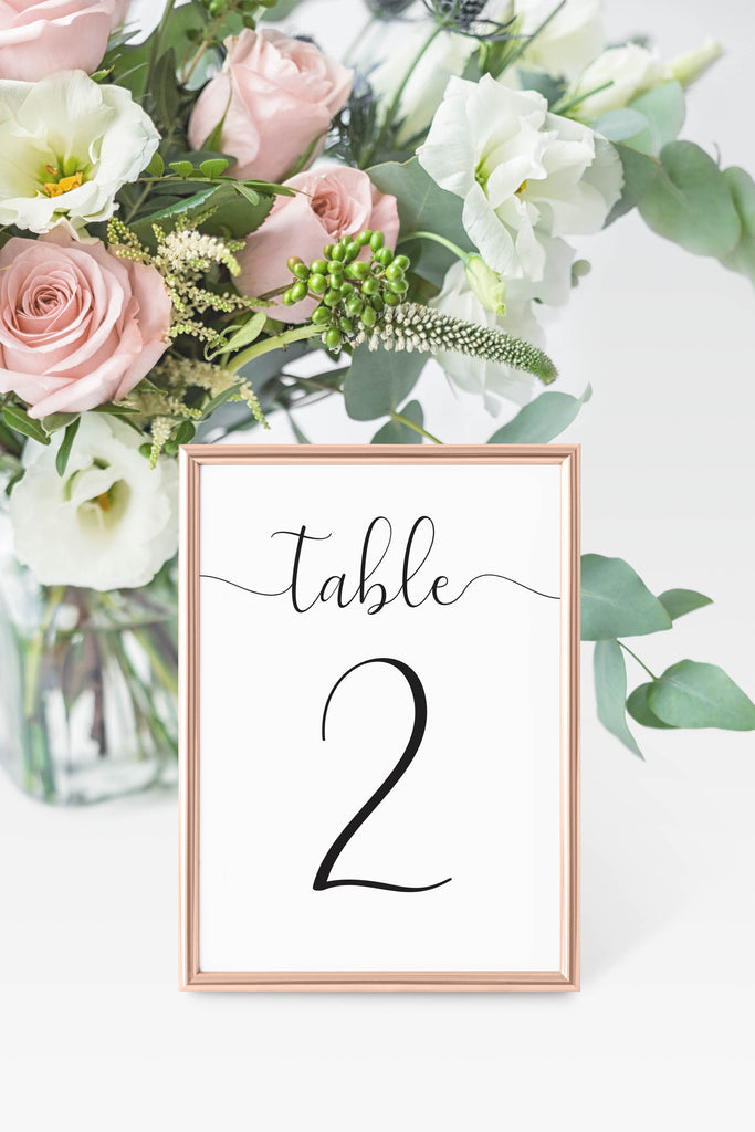 Avery Table Number