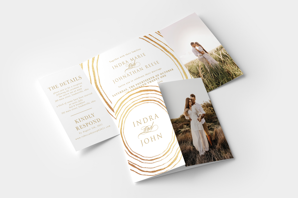 Golden Gate Fold Invitation