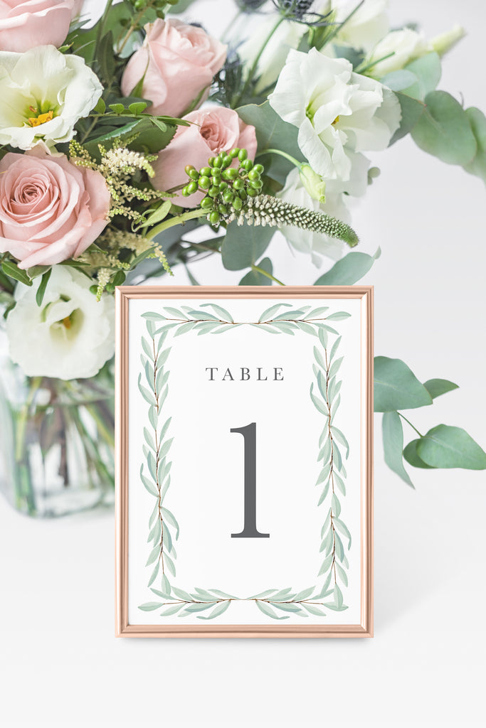 Abriella Table Number