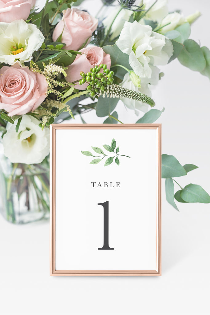 Harper Table Number