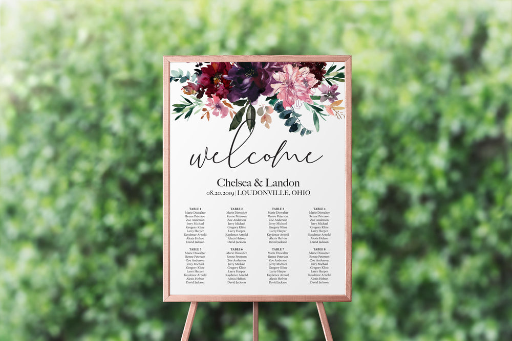 Wildflower Seating Chart