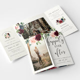 Burgundy Gate Fold Invitation