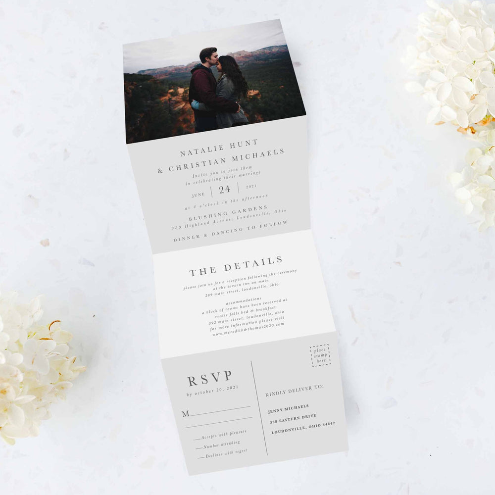 Photo Tri Fold Invitation