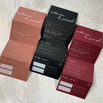 White Ink Tri Fold Wedding Invitations - The Kinsley Design