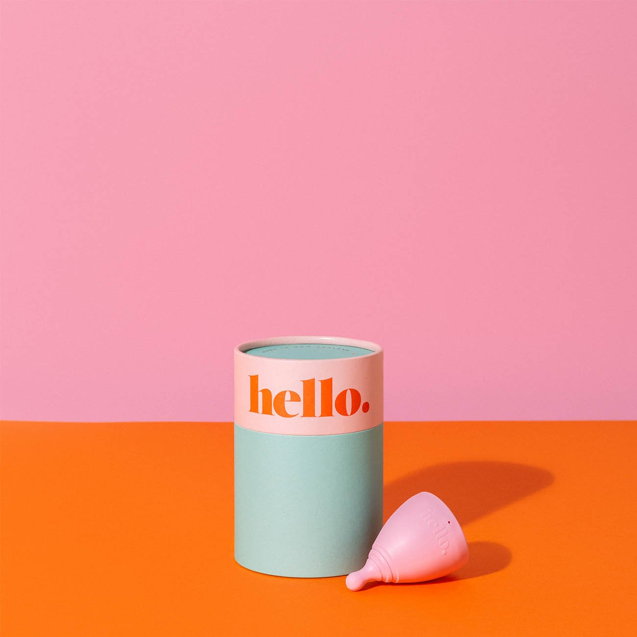 large blush Menstrual cup by the hello cup
