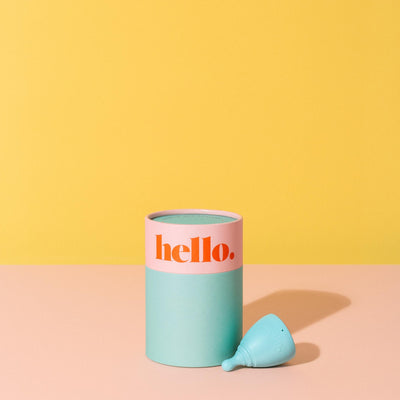 size small medium Menstrual cup by the hello cup