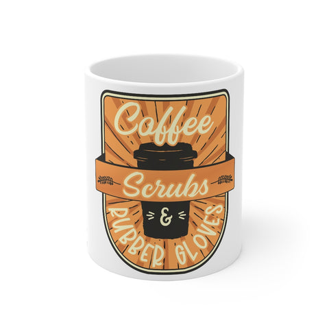 Coffee Scrubs and Rubber Gloves Mug - Knick Knack Nurse