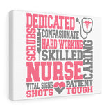Dedicated Nurse Canvas - Knick Knack Nurse