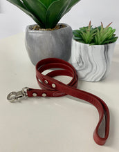 "Load image into Gallery viewer, ""Rocco"" Italian Leather Luxury Dog Leash"