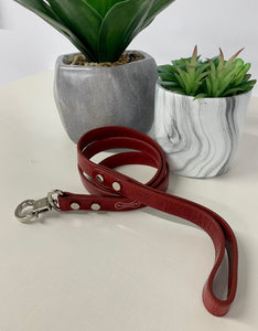 """Rocco"" Italian Leather Luxury Dog Leash"