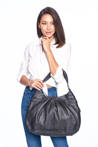 """Como"" Modern Hobo Bag with zipper detail"