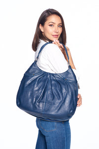 """Como"" Hobo Bag with zipper detail"