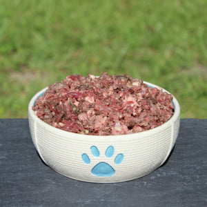 New and improved Beef Complete Mix raw meat dog food from Raw K9
