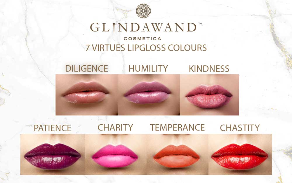 GlindaWand 7 Virtues Lipgloss Range