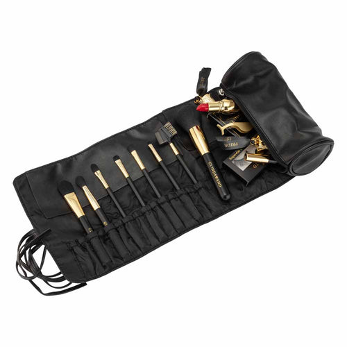 GlindaWand Professional Make-up Brush Roll with Pouch